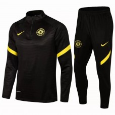 Chelsea Training Technical Soccer Tracksuit Black 2021 2022