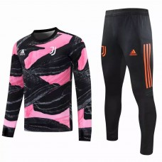 Juventus Soccer Technical Training Black Pink Tracksuit 2020 2021