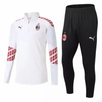 AC Milan Technical Training Soccer Tracksuit White 2020 2021